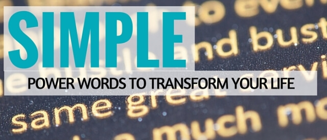 Simple Power Words To Transform Your Life Featured