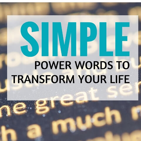 Simple Power Words To Transform Your Life Post