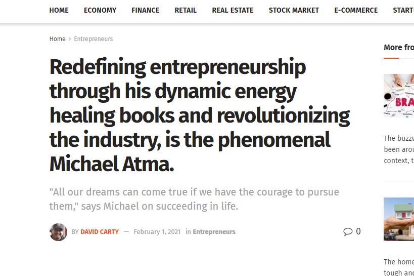 Business Deccan featured Michael Atma