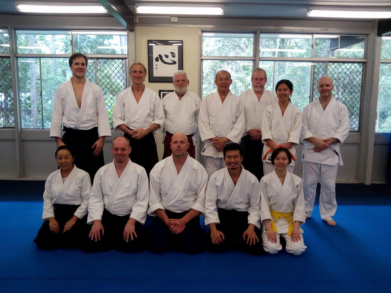 michael atma with aikido team members